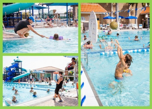 Aquatic Center Collage of Fun Activities