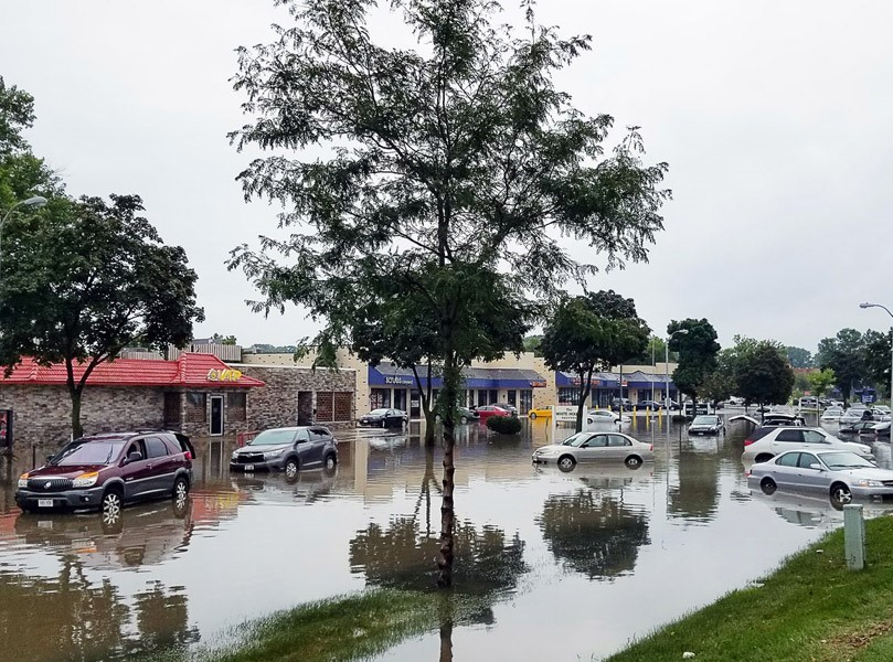 Flooding in Parking Area